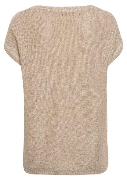 Strickshirt mit Paillettendetails
