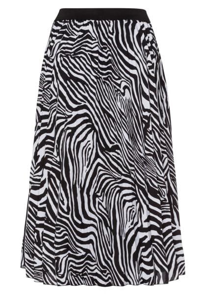 Plisseerock mit Zebra-Print