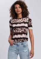 Shirt mit Leo-Batik-Muster