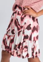 Skirt with modern watercolour print