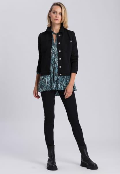 Jeansjacke aus Strukturjersey