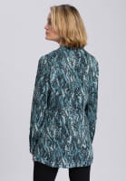 Slip-on blouse with ornamental reptile print