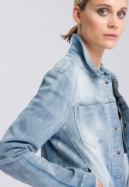 Denim jacket washed-out look