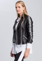 Leather jacket biker style