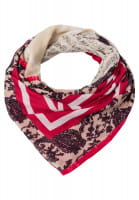 Patchwork scarf with paisley print