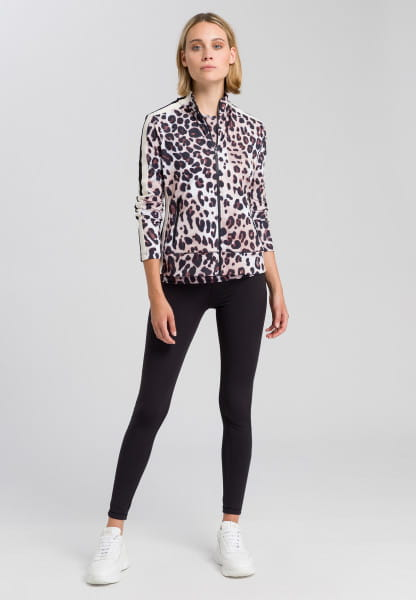 Leggings with glossy motto-print
