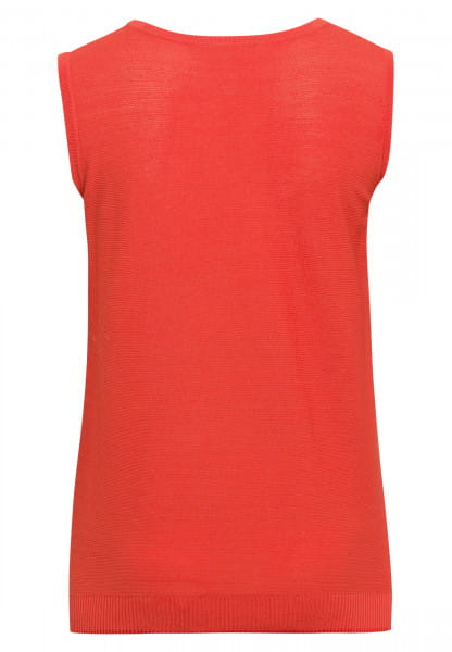 Basic knitwear top with fine structure