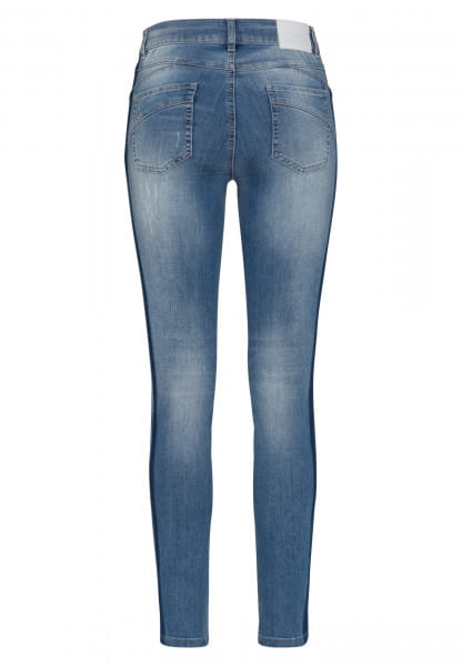 Blue Denim with coloured side strip and Destroys