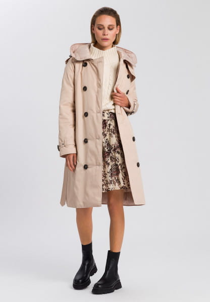 Parka with recycled artificial down