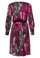 Midi dress with stylized reptile print