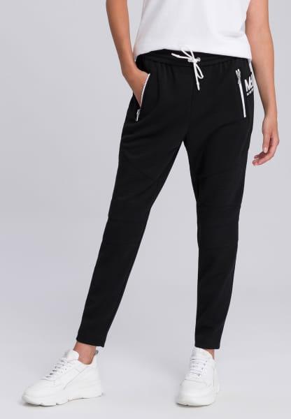 Jogpants with contrast zippers