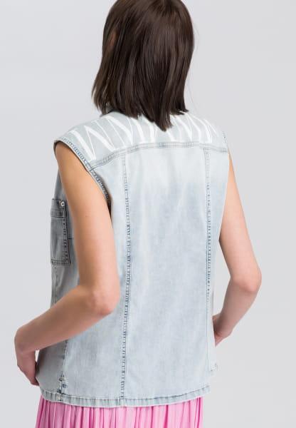 Jeanstop mit Rückenprint