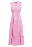 Maxi dress with tie-belt