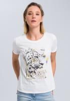T-Shirt mit Leoparden-Foto-Print