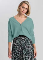 Cardigan with soft viscose content