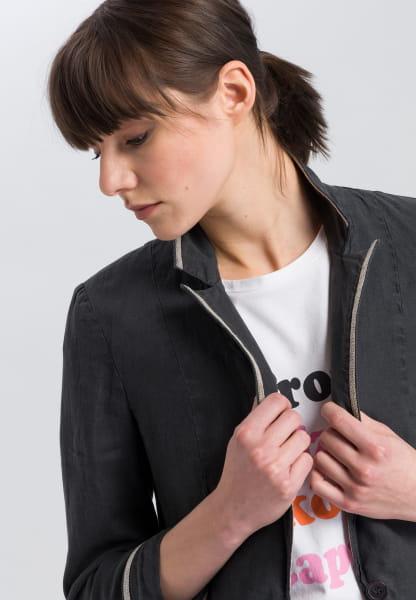 Linen blazer with chain details