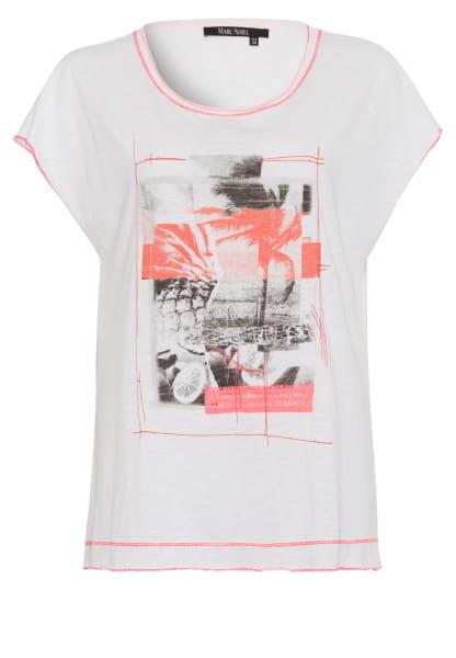 T-Shirt mit Neon-Foto-Print