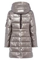 Outdoor coat in metallic style