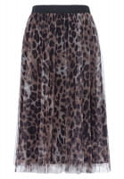 Tulle skirt with Leo print