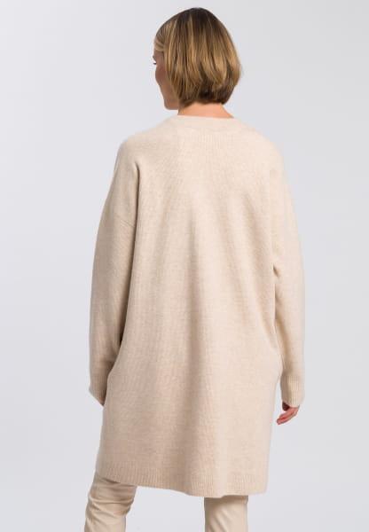 Coat in cardigan style