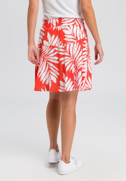 Skirt with floral all-over pattern