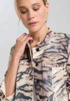 Jacket with abstract animal print