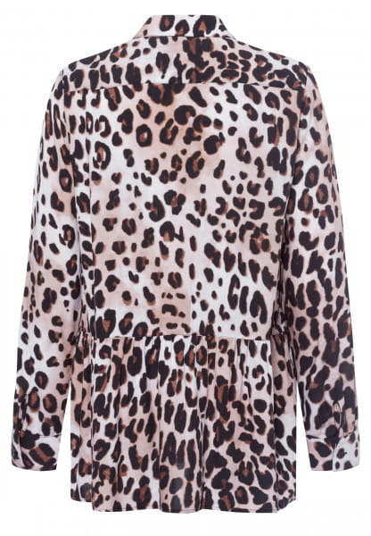 Blouse with leo print
