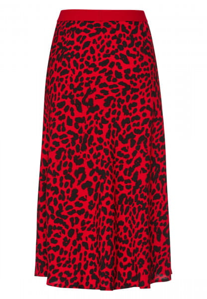 Skirt with leopard print