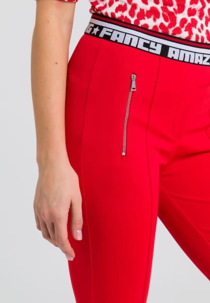 Jersey pants with writing cuffs