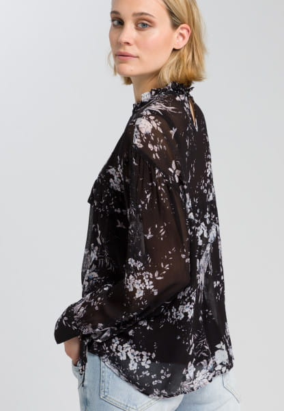 Blouse with delicate flower pattern