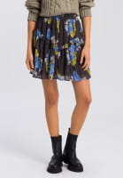 Skirt with ethno-flower print