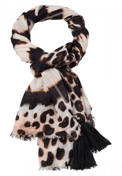Scarf with leo-batik-pattern