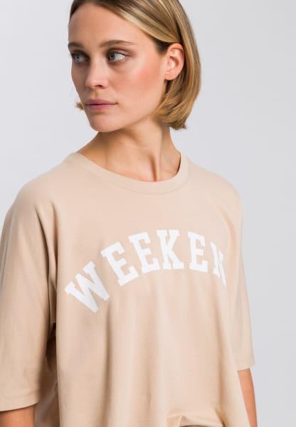Sweatshirt with motto print