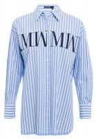 Shirt blouse with fine stripes