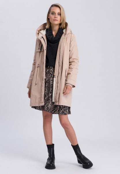 Parka with soft teddy lining