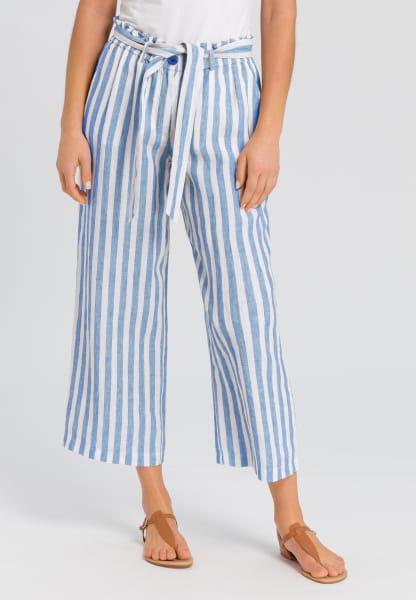 Linen Trouser in striped-look