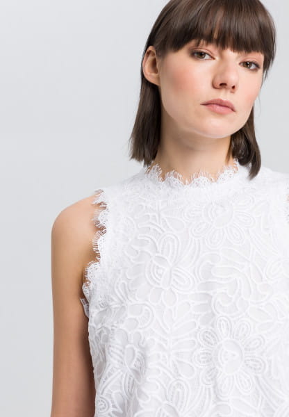 Blouse top with crochet lace