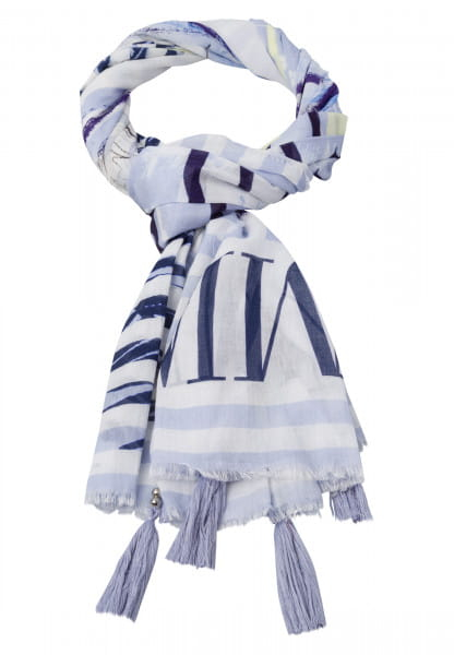 Rectangular Scarf in striped look