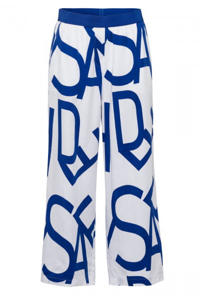 Culottes with text printing