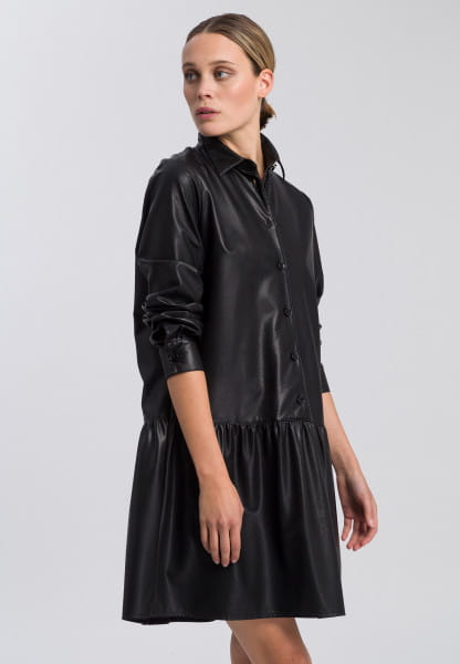 Dress made from vegan faux leather