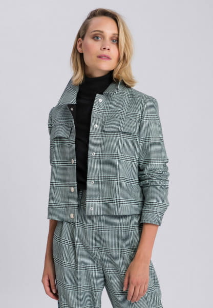 Jacket with check pattern