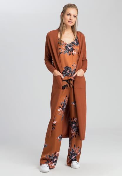 Knitted coat kimono