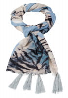 Scarf with abstract animal print