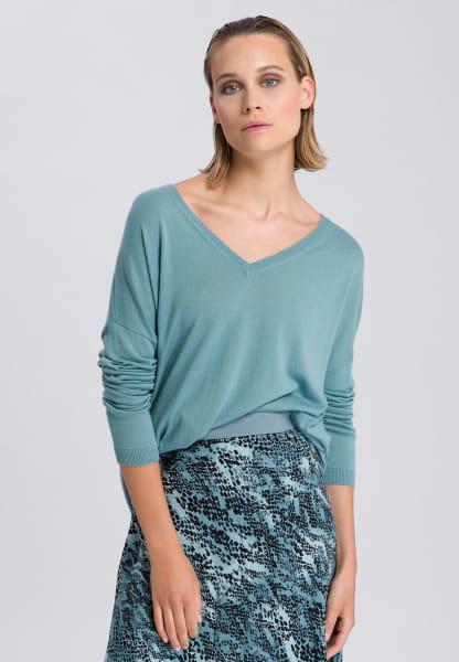 Oversize-Pullover mit V-Ausschnitt