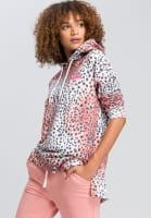 Hoodie in leopard-style
