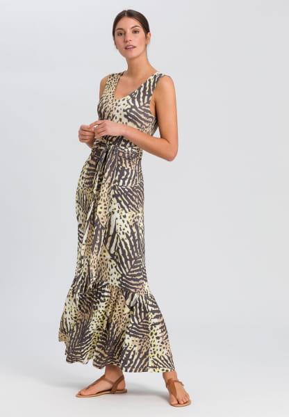 Jerseykleid mit Tropical-Print