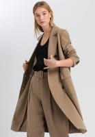 Mantel aus nachhaltigem Twill