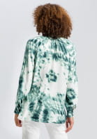 Blouse in tie-dye print