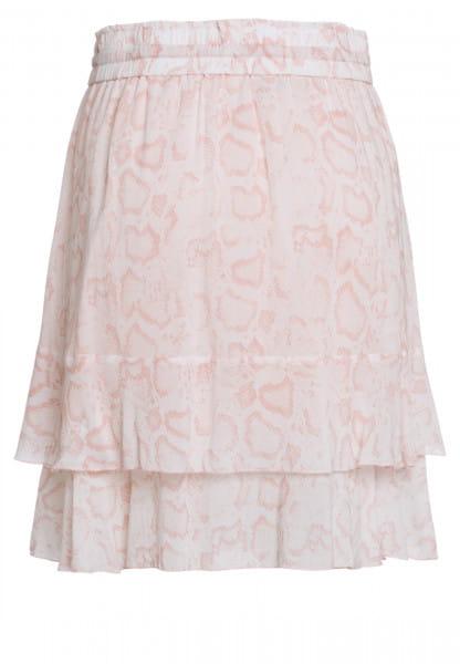 Skirt with light snake print