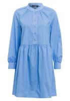 Midi dress in blouse-shirt-look